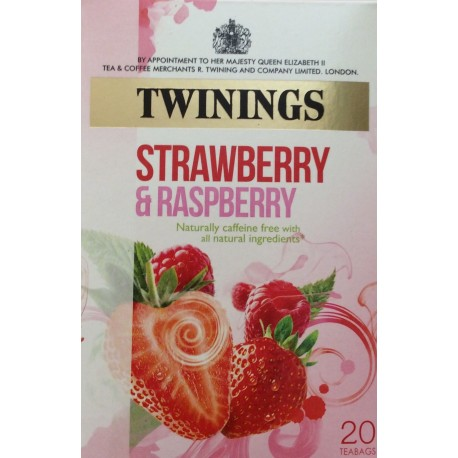 Twinings strawberry & raspberry tea