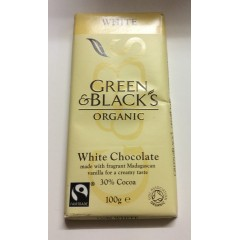 Green & blacks organic white chocolate 30% cocoa 100g