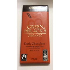 Green&blacks organic chocolate ginger 60% cocoa