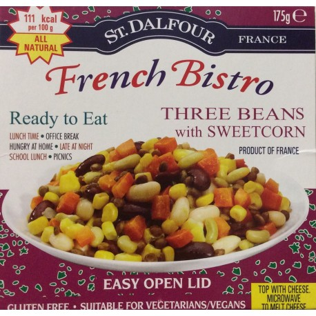 Three beans with sweetcorn 175 g