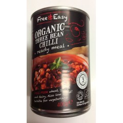 Organic three bean chilli 400 g