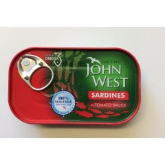 Joh west sardines in tomatoe sauce120g