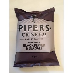 Pipers crisps black pepper & sea salt 40g
