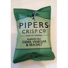 Pipers crisps sea salt&acider vinegar 40g