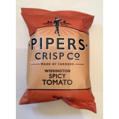 Pipers crisps spicy tomato 40g