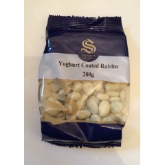Yoghurt coated raisins 200g