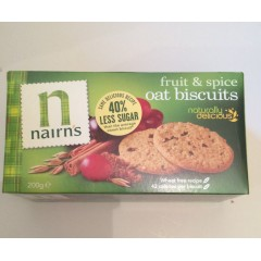 Nairns Oat Biscuits Fruit & Spice