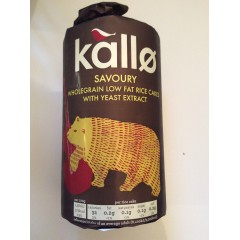 Kallo Whole Grain Savoury Rice Cakes