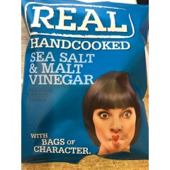 Real crisps sea salt & malt vinegar 35 g