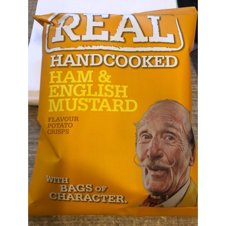Real crisps ham & English mustard 35 g