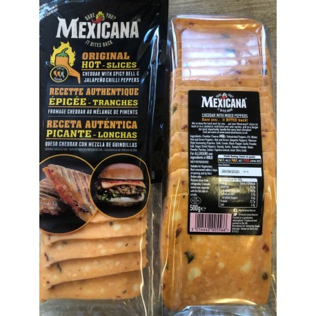 Mexicana cheddar slices with chillies 500 g