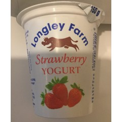 Longley farm 'strawberry' yoghurt 150ml