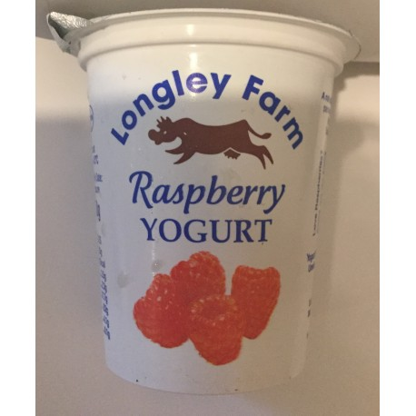 Longley farm 'raspberry' yoghurt 150 ml