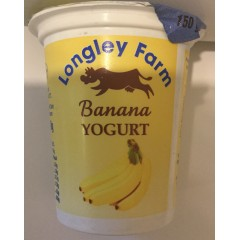 Longley farm 'banana ' yoghurt 150ml