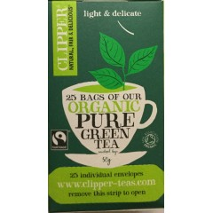 Clipper pure green tea 50g tea sachets