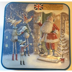 'Grandma wilds assorted biscuits 160g' groovy Santa tin.