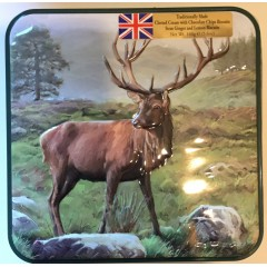 'Grandma wilds' assorted biscuits embossed stag tin 160g