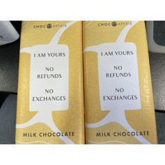 Milk chocolate 90 g I'm yours no refunds