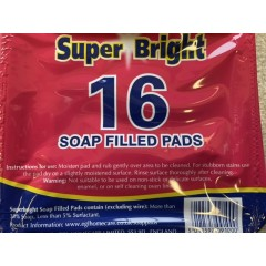 Soap filled pads pack of 16
