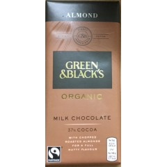 Green and blacks Milk chocolate with almonds 90g