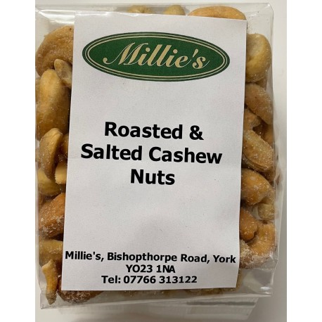 Roasted and salted cashews 160g