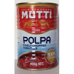'mutti' polpa finely chopped tomatoes 400g