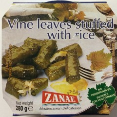 Vine leaves stuffed with rice 280 g