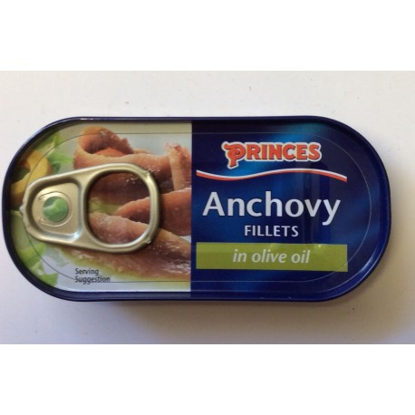 Princes anchovy fillets 50g in olive oil