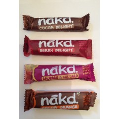 Naked bars various flavours individual 35g