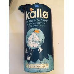 Kallo Rice & Corn Cakes Sea Salt & Vinegar