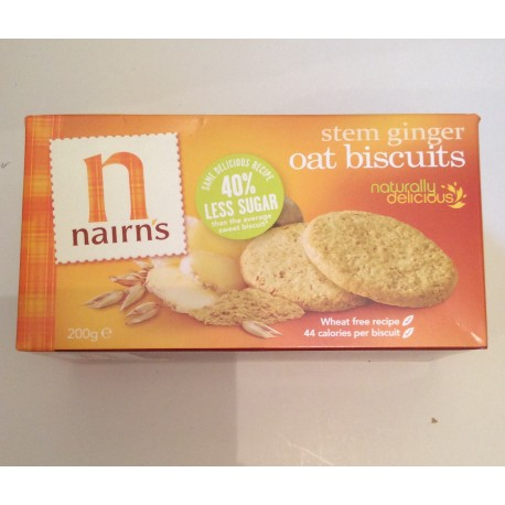 Nairns stem ginger biscuits 200g