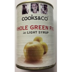 'Cooks&co' whole green figs in syrup 410g