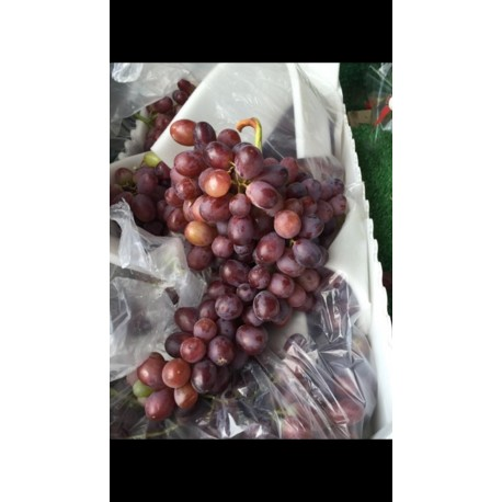 Seedless red grapes. 500g