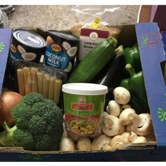 Thai green curry box